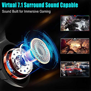 Beexcellent Gaming Headset PS4 Headset Pro 7.1 Surround Sound Noise Canceling...