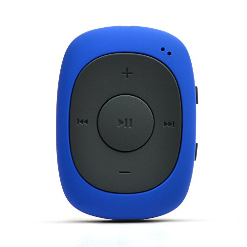 AGPTEK G02 8GB Clip MP3 Player with FM Shuffle, Portable Music Player with Sweatproof Silicone Case for Sports, Blue MG02BLC-3rd G02 New