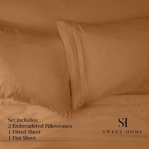 1500 Supreme Collection Extra Soft California King Sheets Set, Mocha - Luxury Bed Sheets Set with Deep Pocket Wrinkle Free Hypoallergenic Bedding, Over 40 Colors, California King Size, Mocha
