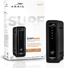 Load image into Gallery viewer, ARRIS Surfboard (16x4) Docsis 3.0 Cable Modem Plus AC1600 Dual Band Wi-Fi Router, Certified for Xfinity, Spectrum, Cox & More (SBG10)