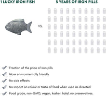 Load image into Gallery viewer, Lucky Iron Fish Ⓡ A Natural Source of Iron - A Cooking Tool to Add Iron to Food and Water, Reduce The Risk of Iron Deficiency - An Iron Supplement Alternative, Ideal for Pregnant Women and Vegans