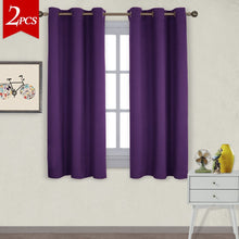 Load image into Gallery viewer, NICETOWN Triple Weave Home Decoration Thermal Insulated Solid Ring Top Blackout Curtains/Drapes for Bedroom(Set of 2,42 x 63 Inch,Royal Purple)