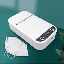 Load image into Gallery viewer, EVGLOW Phone Uv Sanitizer, Portable UV Light Cell Phone Sterilizer, Aromatherapy Function Disinfector, Cell Phone Cleaners UV Light Sanitzier Box for iOS Android Smartphones DisinfectionJewelry Watch