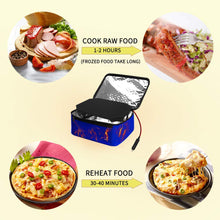 Load image into Gallery viewer, Triangle Power Personal Portable Oven, Electric Slow Cooker For Food,Mini Oven For Meals Reheat,Food Warmer with Lunch Bag For Car(24V)