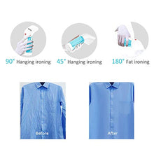 Load image into Gallery viewer, Body Paradise Mini Steam Iron for Clothes Handheld Fabric Steamer Travel Garment Wrinkles Remover Hanging Ironing Steamer Home Use Soften Sanitize Portable Garment Steamer Machine, No Spilling, No Smelling Small Blue