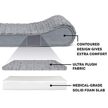 Load image into Gallery viewer, Furhaven Pet Dog Bed | Orthopedic Ultra Plush Faux Fur Ergonomic Luxe Lounger Cradle Mattress Contour Pet Bed w/ Removable Cover for Dogs & Cats, Gray, Jumbo 31535087BX Plush Gray