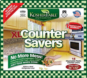 eDayDeal Extra Large Disposable Counter Liners Pack Of 18 Plastic Kitchen Counter Covers For Easy Cleanup After Food Prep- Foldable, Versatile Kitchen Countertop Protectors- Top Time Savers 26 x 42 inches