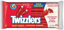 Load image into Gallery viewer, TWIZZLER® Strawberries 'n' Crème Liqourice