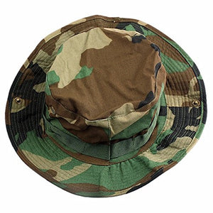squaregarden Military Camo Adjustable Boonie Hat Hunting Bucket Hats / Woodland Camo One Size #1-woodland Camo