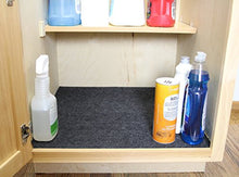 "Load image into Gallery viewer, Drymate USMC2429 24"" x 29"" Under The Sink, Premium Shelf Liner, Mat – Absorbent/Waterproof – Protects Cabinets, Contains Liquids Made in The USA Charcoal"
