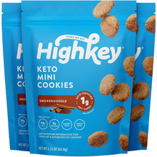 Load image into Gallery viewer, HighKey Keto Snacks Low Carb Food Snickerdoodle Cookie - Paleo, Diabetic Diet Friendly - Gluten Free, Low Sugar Dessert Treats & Sweets - Ketogenic Products Healthy Protein Cookies