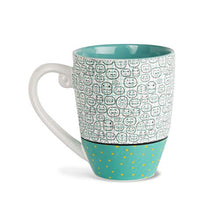 Load image into Gallery viewer, Pavilion Gift Company It's Cats & Dogs Cat Mom Ceramic Extra Large Coffee Mug Tea Cup, 20 oz, Teal 78108