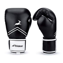 Load image into Gallery viewer, Trideer Pro Grade Boxing Gloves, Kickboxing Bagwork Gel Sparring Training Gloves, Muay Thai Style Punching Bag Mitts, Fight Gloves Men & Women (Black & White, 10 oz)