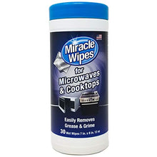 Load image into Gallery viewer, MiracleWipes for Microwaves and Cooktops - Removes Food and Grime Buildup - (30 Count) Blue