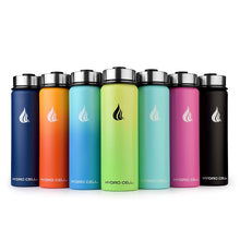 Load image into Gallery viewer, HYDRO CELL Stainless Steel Water Bottle w/Straw & Wide Mouth Lids (40oz 32oz 24oz 18oz) - Keeps Liquids Hot or Cold with Double Wall Vacuum Insulated Sweat Proof Sport Design