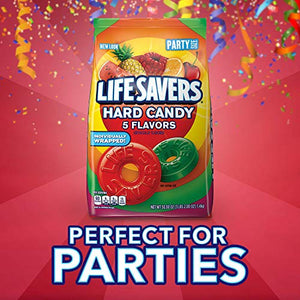 Life Savers 5 Flavors Hard Candy 50-Ounce Party Size Bag 10022000280982 50 Ounce (Pack of 6)