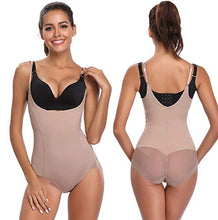 Load image into Gallery viewer, Joyshaper Seamless Firm Control Shapewear Bodysuit for Women Open Bust Wear Your Own Bra Bodysuits Body Shaper Medium Beige-1