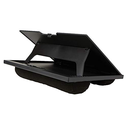 Mind Reader LTADJUST-BLK Adjustable Portable 8 Position Lap Top Desk with Built in Cushions, Black 11.12 D x 14. 75 W x 3 H Black Adjustable