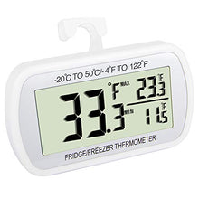 Load image into Gallery viewer, VOULOIR Waterproof Refrigerator Fridge Thermometer, Digital Freezer Room...