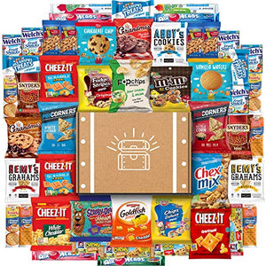 Snack Chest Cookies, Chips & Candies Ultimate Snacks Care Package Bulk Variety Pack Bundle Sampler (50 Count)