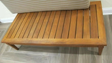 "Load image into Gallery viewer, McGuire of San Francisco ""Portico"" Solid Teak Wood Patio 57x27"" Bench w/Cushion"