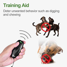 Load image into Gallery viewer, MODUS Ultrasonic Bark Control Device, Anti Barking DeviceDog Training Aid 2 in 1 Control Range of 16.4 Ft W/Anti-Static Wrist Strap LED Indicate Walk a Dog Outdoor M-230 Black