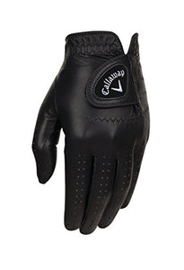 Callaway Golf Men's OptiColor Leather Glove, Black, Cadet Small, Worn on Left Hand 5316156