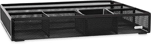 Rolodex Deep Desk Drawer Organizer, Metal Mesh, Black (22131) 11.75 inches long by 15.25 inches wide