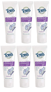 Tom's of Maine Children's Fluoride Anticavity Gel, Kids Toothpaste, Natural Toothpaste, Fruitilicious, 4.2 Ounce, 6-Pack