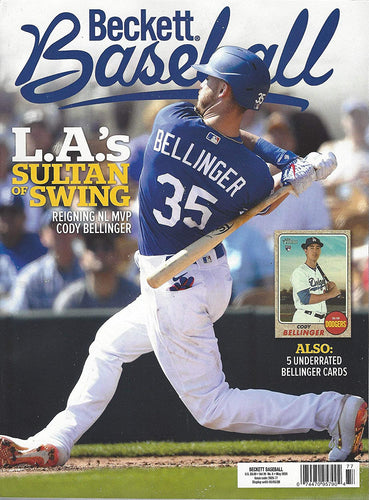 NEWEST GUIDE: Beckett Baseball Card Monthly Price Guide (March 20, 2020 release/C. Bellinger cover)***Pricing starts at 1980***