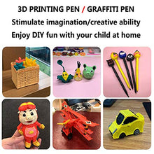 Load image into Gallery viewer, WDDLD 3D Printing Pen, 3D Graffiti Pen with Smart Voice Prompt/USB Charging/Applicable Supplies PCL / 20 ° Low Temperature Pen is Safer Children's Best Gift Pink