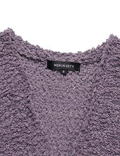 Load image into Gallery viewer, MEROKEETY Women's Long Sleeve Soft Chunky Knit Sweater Open Front Cardigan Outwear with Pockets MKCardigans18-Taro-XL X-Large A-taro