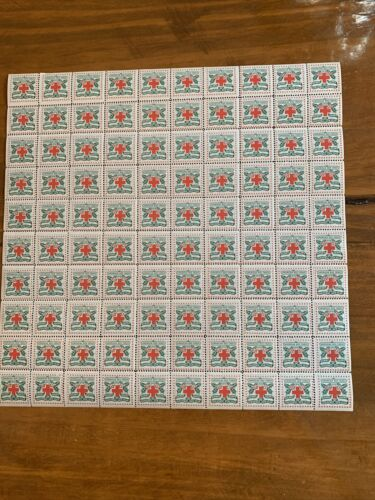 United States Christmas Seals, Scott WX4 Mint Full Sheet Very Fine OG. Nice