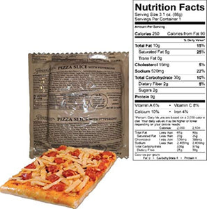 MRE Z-Ration (Zombie MRE) Custom Meals Ready to Eat! (Menu P - Pepperoni Pizza)