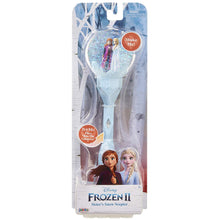 "Load image into Gallery viewer, Frozen 2 Sisters Musical Snow Wand Costume Prop Scepter, Plays ""Into The Unknown"" Perfect for Child Costume Accessory, Role Play, Dress Up or Halloween Party"