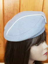 Load image into Gallery viewer, Vintage 1960s 1964 Rare summer light blue America Airliners stwardess beret hat