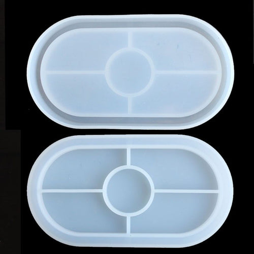 Large Oval Shape Coaster Resin Molds Slilcone UV Resin Mold Jewelry Making Tools