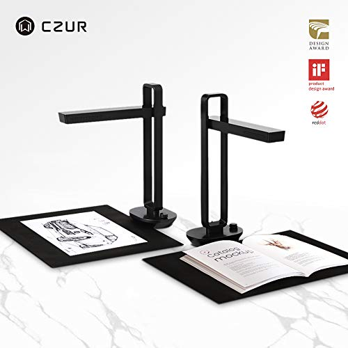 CZUR Aura, The Smart Portable Personal Scanner and Desk Smart Lamp. Innovative AI Technology for Enhanced Scanning Performance for Book & Document or Any Paper Materials (Bound or Unbound), Mac&Window AURA-B