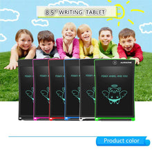 Load image into Gallery viewer, AURXONS LCD Writing Tablet Electronic Writing Drawing Doodle Board Erasable 8.5-Inch Handwriting Paper Drawing Tablet for Kids Adults at Home School Office Blue