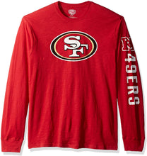 Load image into Gallery viewer, NFL Men's OTS Slub Long Sleeve Team Name Tee
