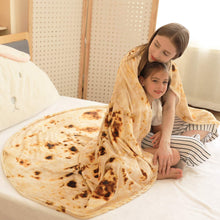 Load image into Gallery viewer, CASOFU Burritos Blanket, Burritos Tortilla Blanket, Food Flour Tortilla Throw Blankets, Soft and Comfortable Giant Flannel Taco Blanket for Adults. (Burrito-G, 80 inches)