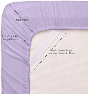 1500 Supreme Collection Extra Soft Twin XL Sheets Set, Lavender - Luxury Bed Sheets Set with Deep Pocket Wrinkle Free Hypoallergenic Bedding, Over 40 Colors, Twin XL Size, Lavender