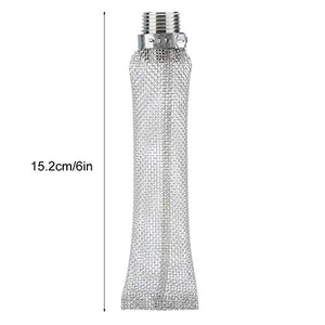 Fdit 1/2in NPT Stainless Steel Home Beer Brewing Filter Screen Mesh Filter for...