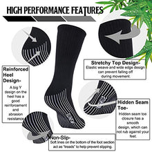 Load image into Gallery viewer, Bamboo Dress Socks, Sunew Men's Breathable Moisture Control Indoor Home Sport Crew Sweaty Socks, Soft Durable Non Slip Trekking Hiking Cycling Socks with Seamless Toe,6 Pairs White/Black/Gray XL X-Large 2black/2white/2grey-bamboo Crew Socks