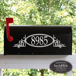 Back40Life - Mailbox Numbers Street Address Vinyl Decal (E-004g)