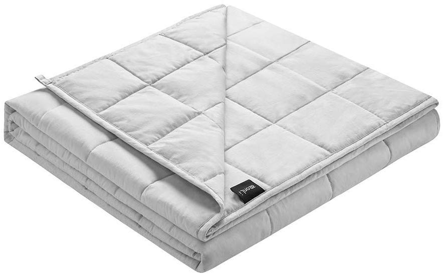 ZonLi Adult Weighted Blanket 17lbs(60''x80'', Queen Size), Cooling Weighted Blanket for Adults, 100% Cotton Material with Glass Beads, Gift for Your Loved