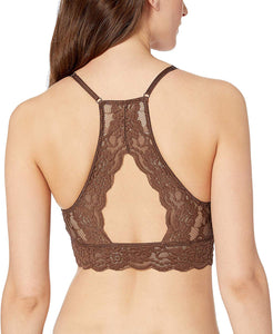 Brand - Mae Women's High-Neck Lace Bralette (for A-C cups)