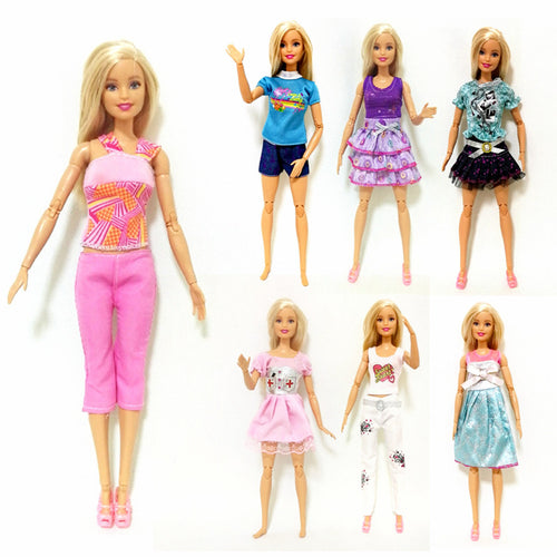 New Fashion Dress Outfit Sets for 1:6 30cm BJD FR Doll Clothes Dollhouse Play Accessories