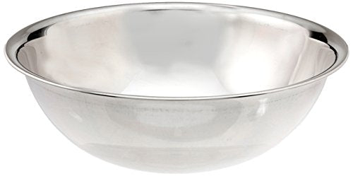 Vollrath 47938 8-Quart Economy Mixing Bowl, Stainless Steel, silver