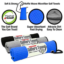 Load image into Gallery viewer, Fireball Golf 5-Piece Deluxe Golf Towel Gift Accessories Set in Blue